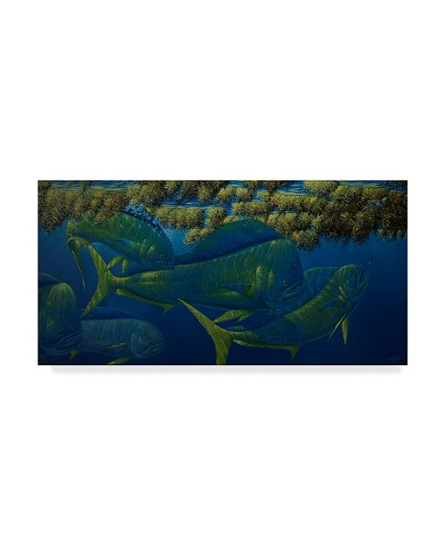 "Trademark Global Wilhelm Goebel 'Opalescence' Canvas Art - 16"" x 32"""
