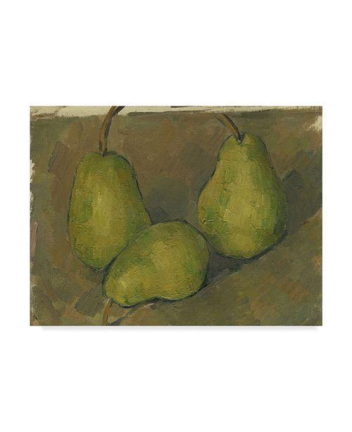 "Trademark Global Paul Cezanne 'Three Pears' Canvas Art - 19"" x 14"""