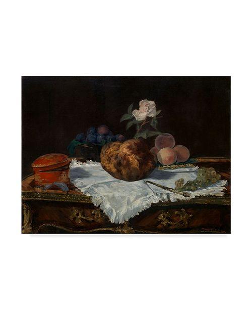 "Trademark Global Edouard Manet 'The Brioche' Canvas Art - 24"" x 18"""