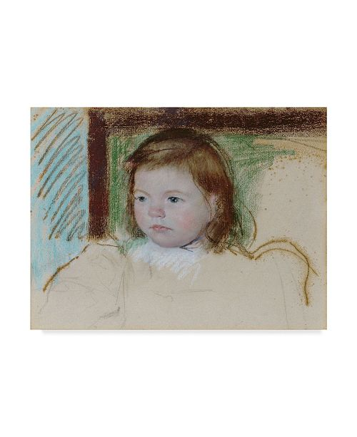 "Trademark Global Mary Stevenson Cassatt 'Ellen Mary Cassatt' Canvas Art - 19"" x 14"""