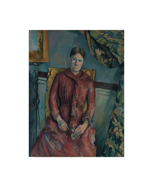 "Trademark Global Paul Cezanne 'Madame Cezanne In A Red Dress' Canvas Art - 19"" x 14"""