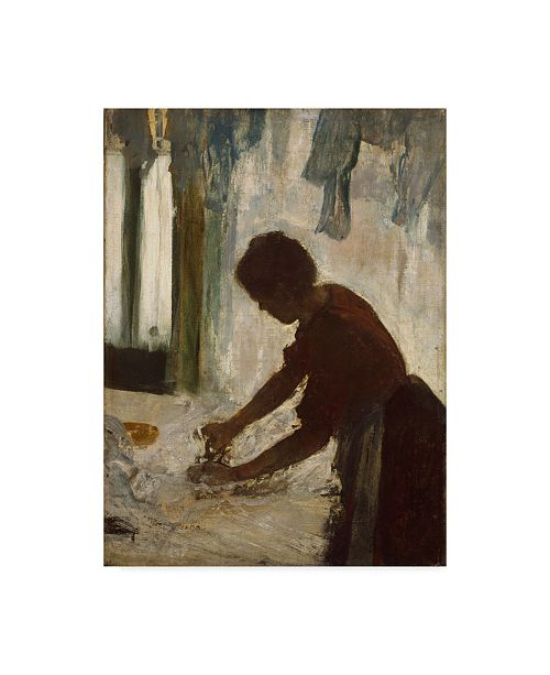 "Trademark Global Edgar Degas 'A Woman Ironing' Canvas Art - 19"" x 14"""
