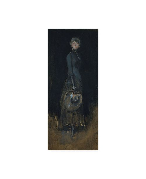 "Trademark Global James Abbott Mcneill Whistler 'Lady In Gray' Canvas Art - 19"" x 8"""