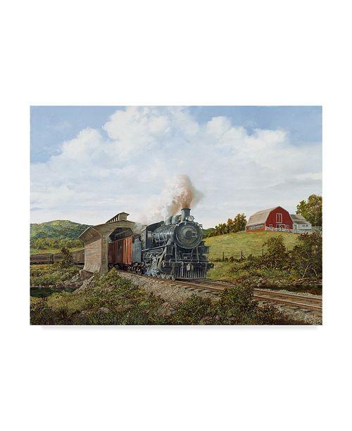 "Trademark Global Jack Wemp 'Locomotive 2' Canvas Art - 19"" x 14"""
