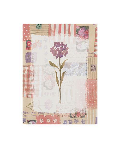 "Trademark Global Hope Street Designs 'Purple Flower Rustic' Canvas Art - 24"" x 32"""