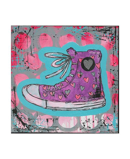 "Trademark Global Jennifer Mccully 'Sneaker' Canvas Art - 14"" x 14"""