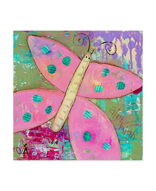 "Trademark Global Jennifer Mccully 'Pink Butterfly' Canvas Art - 14"" x 14"""
