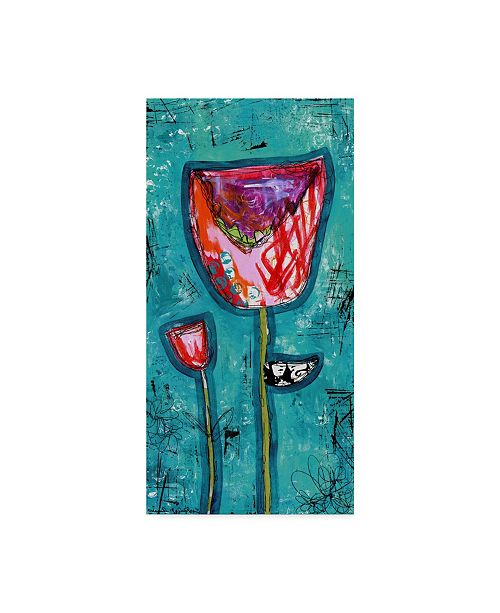 "Trademark Global Jennifer Mccully 'Colorful Tulips' Canvas Art - 12"" x 24"""
