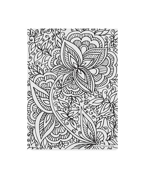 "Trademark Global Jessica Putnam 'Floral Patterns 10' Canvas Art - 24"" x 32"""