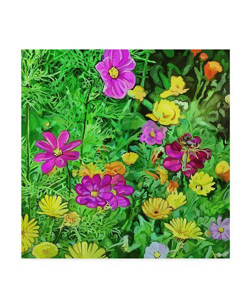 """Trademark Global Howie Green 'Pop Art Flowers' Canvas Art - 14"""" x 14"""""""