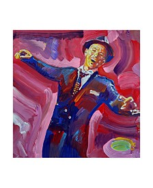 "Howie Green 'Frank Sinatra' Canvas Art - 14"" x 14"""