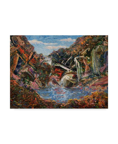 "Trademark Global James W. Johnson 'Mountain Pool' Canvas Art - 19"" x 14"""