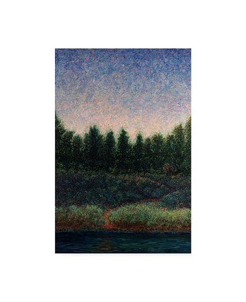 "Trademark Global James W. Johnson 'Looking Back Green' Canvas Art - 22"" x 32"""