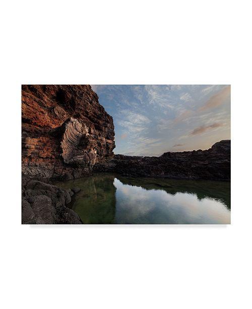 "Trademark Global Jason Matias 'Tide Pool Sunrise' Canvas Art - 19"" x 12"""