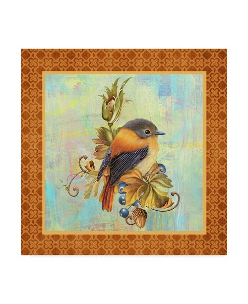 "Trademark Global Jean Plout 'Glorious Birds On Aqua 1' Canvas Art - 24"" x 24"""