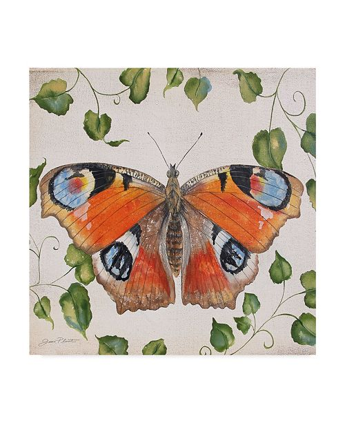 "Trademark Global Jean Plout 'Orange Dream Butterfly 1' Canvas Art - 18"" x 18"""