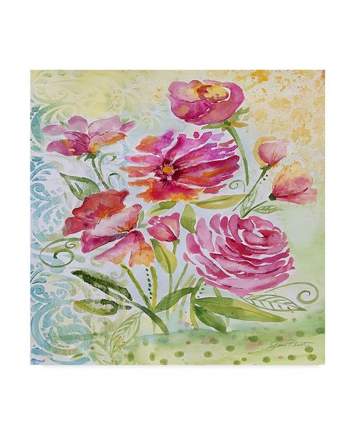 "Trademark Global Jean Plout 'Garden Beauty 2' Canvas Art - 18"" x 18"""