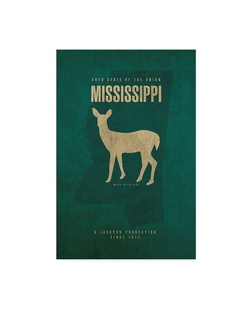 "Trademark Global Red Atlas Designs 'State Animal Mississippi' Canvas Art - 22"" x 32"""