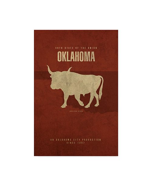 "Trademark Global Red Atlas Designs 'State Animal Oklahoma' Canvas Art - 22"" x 32"""
