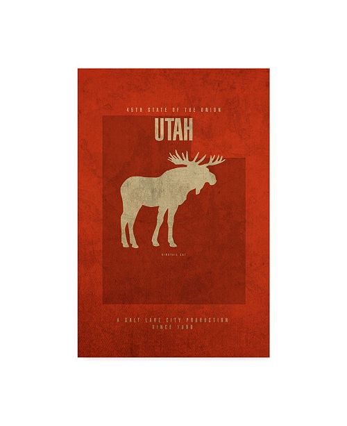 "Trademark Global Red Atlas Designs 'State Animal Utah' Canvas Art - 16"" x 24"""