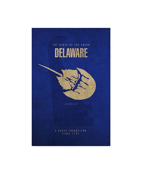 "Trademark Global Red Atlas Designs 'State Animal Delaware' Canvas Art - 22"" x 32"""