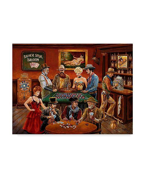 "Trademark Global Lee Dubin 'The Gamblers' Canvas Art - 24"" x 18"""
