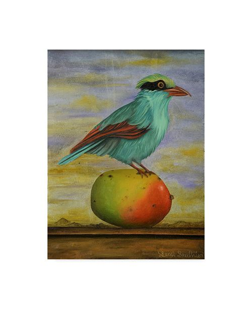 "Trademark Global Leah Saulnier 'Magpie On A Mango' Canvas Art - 18"" x 24"""