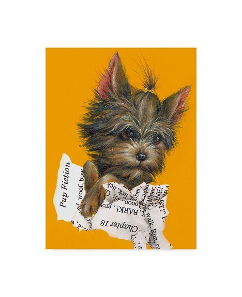 "Trademark Global Peggy Harris 'Pup Fiction 1' Canvas Art - 14"" x 19"""