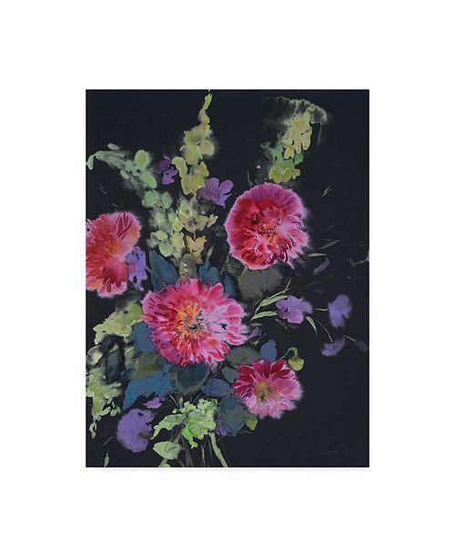 """Trademark Global Marietta Cohen Art And Design 'Fluid Flowers 1' Canvas Art - 14"""" x 19"""""""