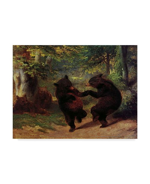 """Trademark Global Masters Collection 'Dancing Bears' Canvas Art - 19"""" x 14"""""""