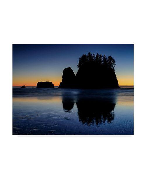 "Trademark Global Michael Blanchette Photography 'Beach Afterglow' Canvas Art - 24"" x 18"""