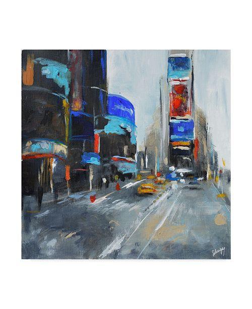 "Trademark Global Solveiga 'Times Square New York' Canvas Art - 14"" x 14"""