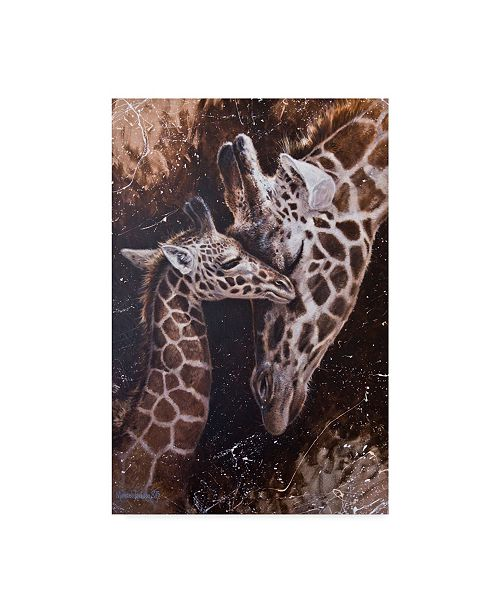 "Trademark Global Michael Jackson 'Baby Giraffes' Canvas Art - 12"" x 19"""