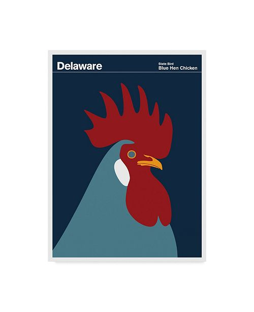 "Trademark Global Print Collection - Artist 'Blue Hen Chicken Delaware' Canvas Art - 14"" x 19"""