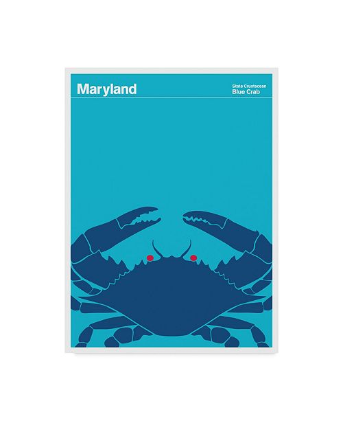 "Trademark Global Print Collection - Artist 'Blue Crab Maryland' Canvas Art - 14"" x 19"""