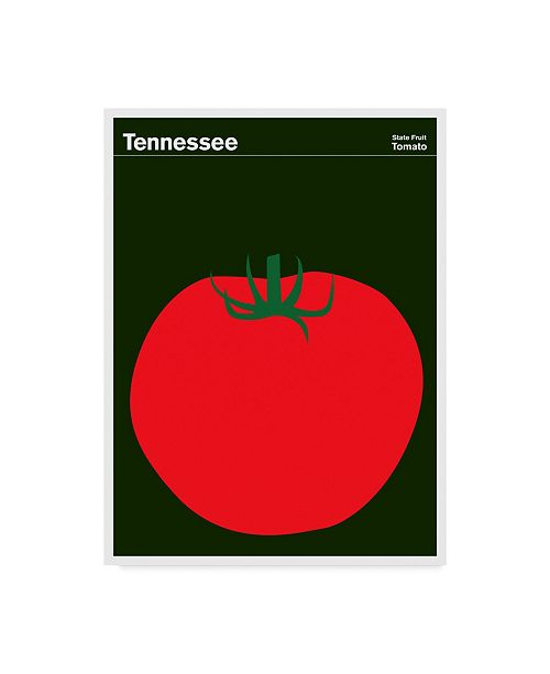 """Trademark Global Print Collection - Artist 'Tennessee Fruit Tomato' Canvas Art - 18"""" x 24"""""""