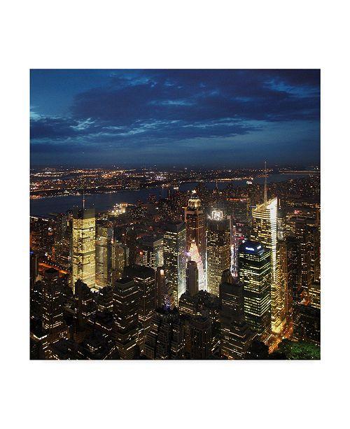 "Trademark Global Nina Papiorek 'NYC Times Square' Canvas Art - 14"" x 14"""