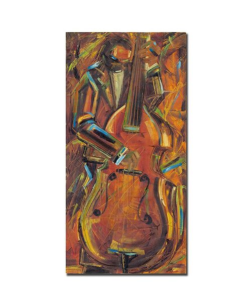 "Trademark Global Joarez 'Jazz I' Canvas Art - 19"" x 10"""