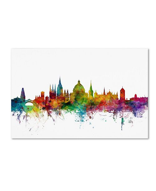 "Trademark Global Michael Tompsett 'Oxford England Skyline II' Canvas Art - 19"" x 12"""