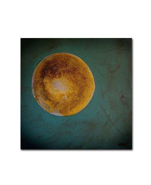 "Trademark Global Nicole Dietz 'Moon on Blue' Canvas Art - 18"" x 18"""