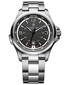 Victorinox Swiss Army Watch, Men's Night Vision Stainless Steel Bracelet 42mm 241569