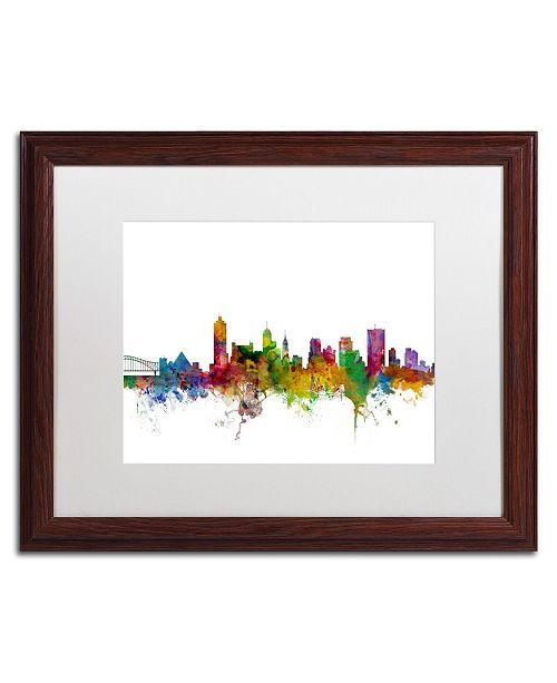 "Trademark Global Michael Tompsett 'Memphis Tennessee Skyline' Matted Framed Art - 16"" x 20"""