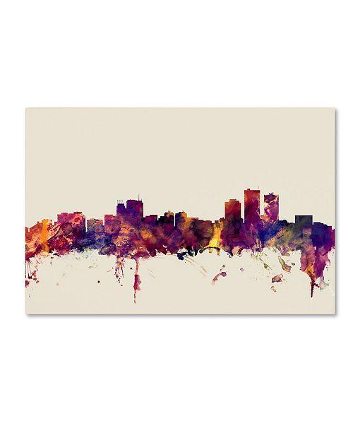 "Trademark Global Michael Tompsett 'Anchorage Alaska Skyline' Canvas Art - 30"" x 47"""