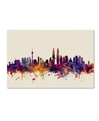 Michael Tompsett 'Kuala Lumpur Malaysia Skyline' Canvas Art - 30