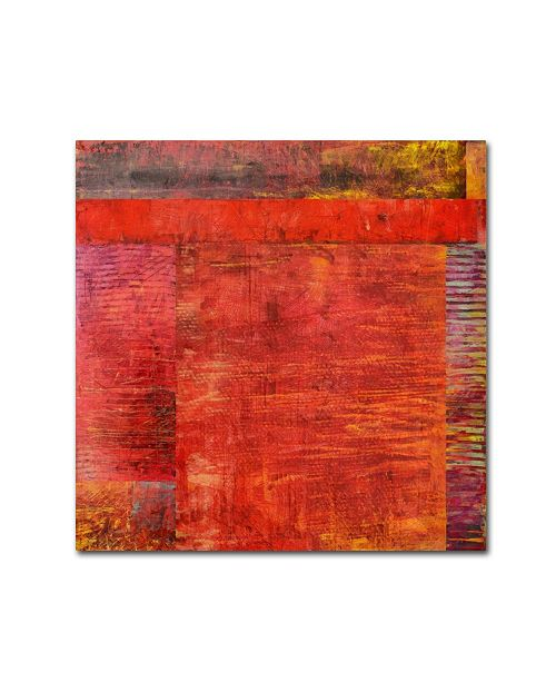 """Trademark Global Michelle Calkins 'Essence of Red 2' Canvas Art - 35"""" x 35"""""""
