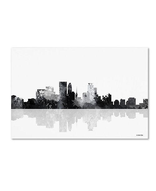 "Trademark Global Marlene Watson 'Minneapolis Minnesota Skyline BG-1' Canvas Art - 30"" x 47"""