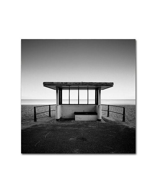 "Trademark Global Rob Cherry 'Beach Shelter' Canvas Art - 35"" x 35"""