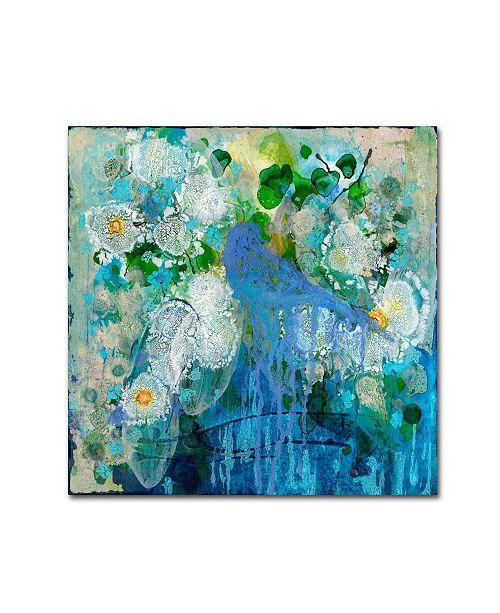 "Trademark Global Wyanne 'Bluebird Reflections' Canvas Art - 35"" x 35"""
