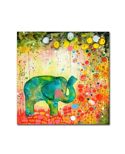 "Trademark Global Wyanne 'Garden Adventure' Canvas Art - 35"" x 35"""