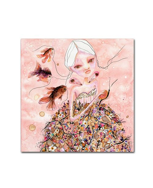"""Trademark Global Wyanne 'You're Safe With Me' Canvas Art - 35"""" x 35"""""""